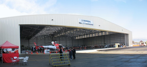 Hangar now ready for business (click on photo to enlarge to monster size)