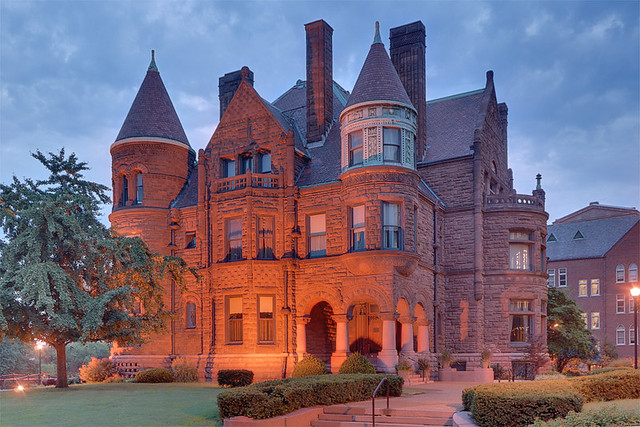 Saint Louis University, in Saint Louis, Missouri, USA - Samuel Cupples House at dawn