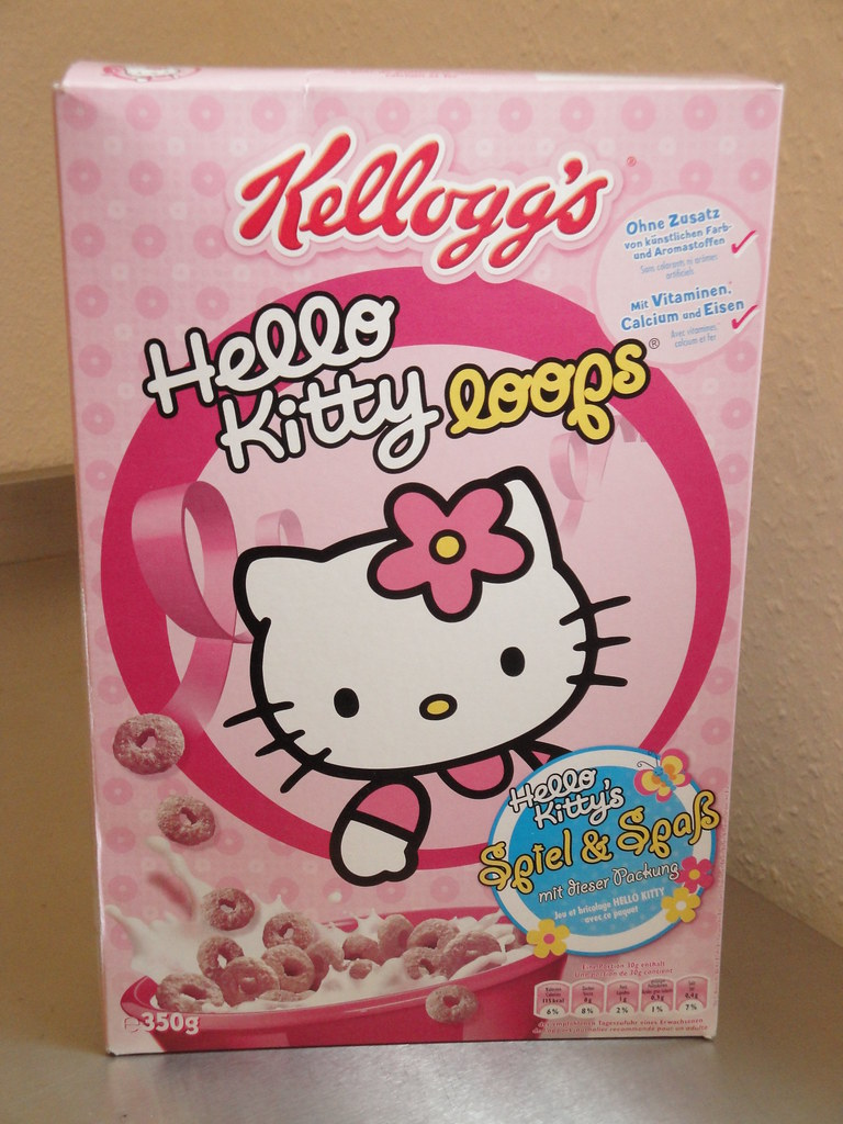 Cereal Hello Kitty loops Kelloggs