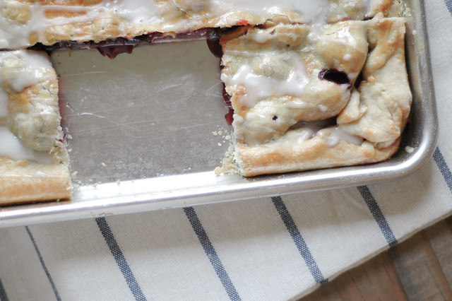 sweet & sour cherry slab pie