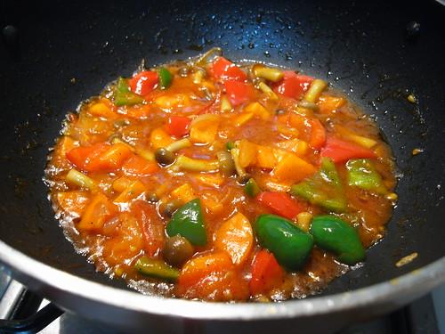 Stir fried mushrooms & vegetables