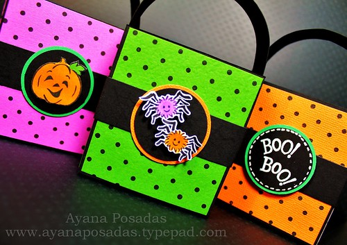 Halloween Polka-Dot Treat Bags (2)