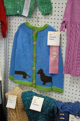 Iowa State Fair 2010 - Knitting - Weiner Dog Sweater