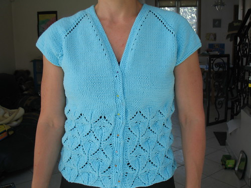 Oriel Lace Cardigan - Front View