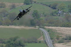 """F-15 Strike Eagle 48th Fighter Wing """"Boss Jet"""" (PhoenixFlyer2008) Tags: speed google eagle loop military low images level strike panthers fs fw mach idris f15 madhatters 48th cadair dolgellau heathaze jetwash usafe 494th 492nd"""