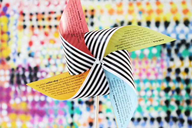 Artrebels.com Paper Pinwheel