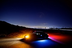 midnight club (Eric 5D Mark III) Tags: light color car night star automobile convertible midnight bmw lighttrail 328i lagunacoastwildernesspark ef14mmf28liiusm