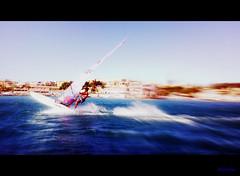 Blue wave player (Algerina( Amal Qahwadji)) Tags: mer sports t mouvement flickrunitedaward