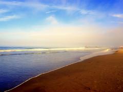Tweaked Beach (lsdinaz) Tags: ocean sky beach colors pier saturated pacific dreamy tweaked huntingtonbeach peacful lsdinaz