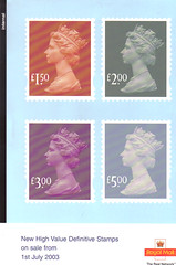 2003 Internal High Value Definitives
