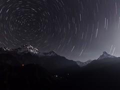 Annapurna Star Trails