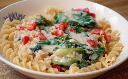 pasta with white bean sauce