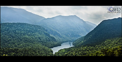 Lower Ausable from Lost Lookout (GWD Photography) Tags: lake newyork mountains water canon landscape eos climb high pond angle hill wide adirondacks hike trail valley 5d peaks region 1740 markii sawteeth highpeaks lowerausablelake ausablelake lostlookout