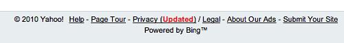 Yahoo Powered By Bing