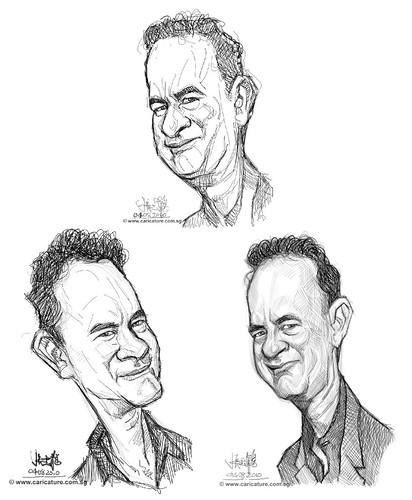 Schoolism - Assignment 1 - Sketches of Tom Hanks