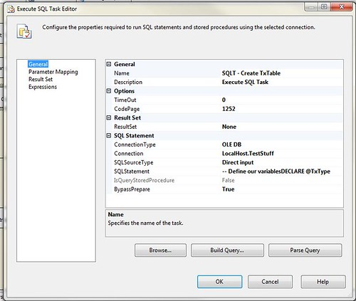 Creating Dynamic Outputs in SSIS to an SQL Database