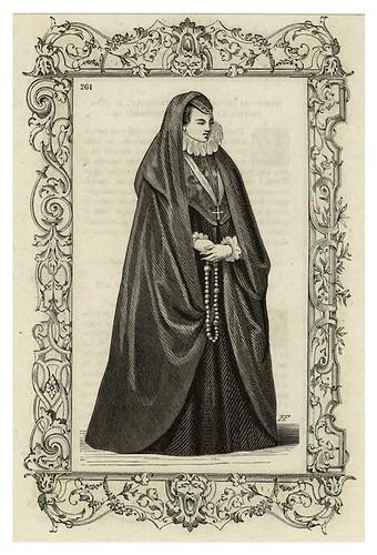 014-Matrona viuda española siglo XVI-Habiti antichi et moderni di tutto il mundo- Cesare Vecellio