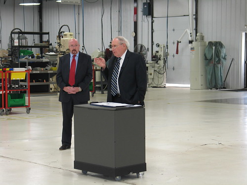 Michigan Rural Development State Director Jim Turner, left, and U.S. Sen. Carl Levin.