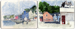 Tobermory (Wil Freeborn) Tags: moleskine scotland sketch harbour journal watercolour mull tobermory