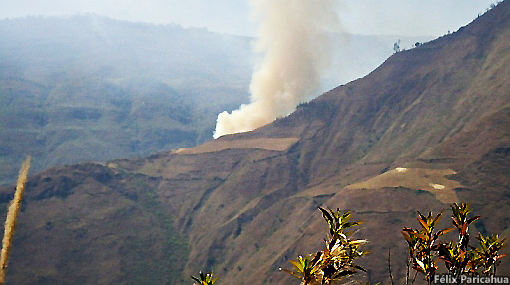 Fire near Kuélap