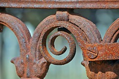 Rusty Scroll (Candidly Captured Photography) Tags: old history cemetery grave metal angel death iron lock rip headstone rusty australia nsw marble ornate crusty scroll mudgee janetjellybean laytorest