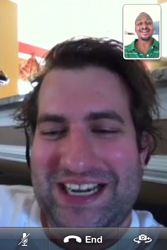 First time FaceTime with @therab