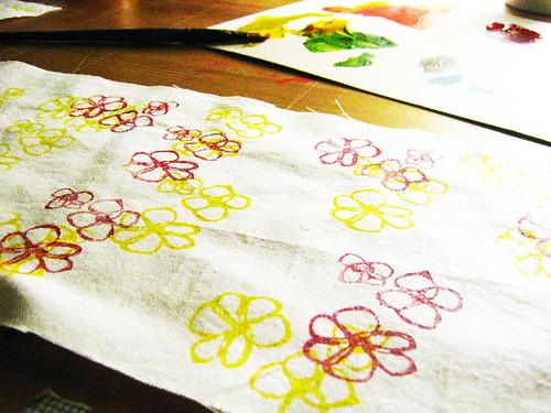hand printed fabric