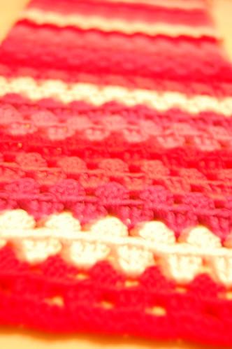 Grannystripe scarf WIP 3