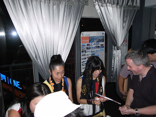 Emi and Ritsuko from Shonen Knife Sign Autographs