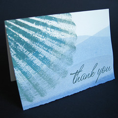 Seashell Ombre Thank You card