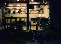 ... (june1777) Tags: snap street seoul angukdong night light cafe mamiya 645 mamiya645 80mm f19 fuji pro 400 h 400h pro400h sekor tl