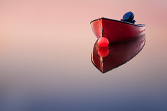 Floating (deanbouchard) Tags: reflection water sunrise dawn boat nikon ns buoy shadbay calmwater d90 reflectiona buoyant mywinners nikon1685mmvr tripleniceshot mygearandmepremium