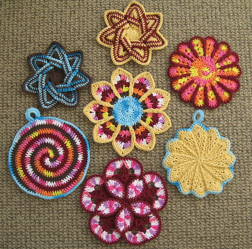 Free Crochet Dishcloth And Potholder Pattern : Hot pads, potholders and dishcloths thornberry