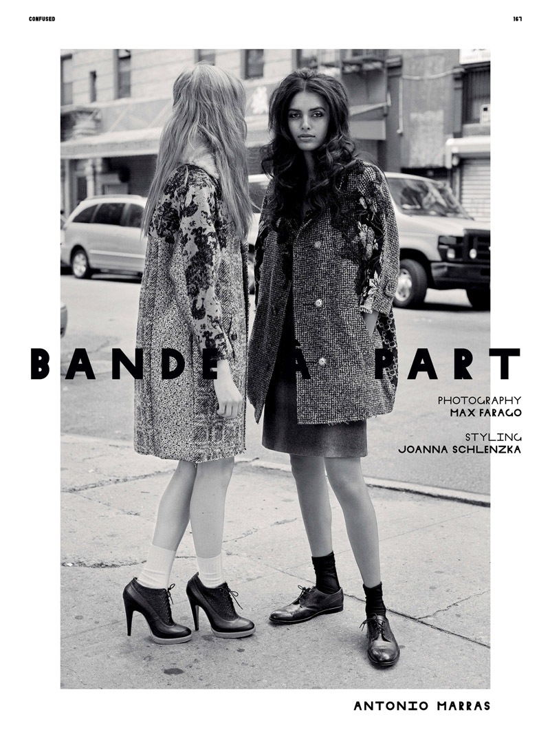 Lakshmi Menon & Amanda Norgaard by Max Farago for Dazed & Confused September 2010 2