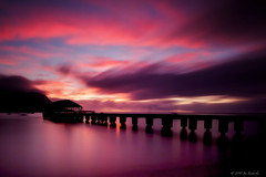 Hanalei Bay Sunset (Jay Tankersley Photography) Tags: ocean sunset seascape hawaii bay pier long exposure pacific kauai hanalei