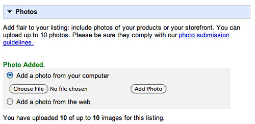 Google Places Photo upload