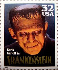 Frankenstein Stamp 2604 (Brechtbug) Tags: portrait holiday film halloween monster by movie poster costume mask stamps decoration like s frankenstein horror boris 1997 monsters universal creature played karloff
