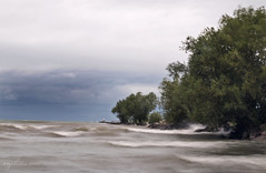 Stormy Lake Scene (DHPhotos) Tags: lake ontario point waves wave windy overcast lakeontario wavy 2010 portdalhousie dhphotos