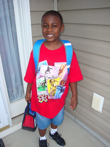 Jalen's 1st day of 3rd grade