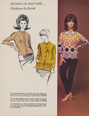 Sweaters To Start With...Fashions To Finish (The Cardboard America Archives) Tags: wisconsin vintage mod departmentstore 1967 watertown beaverdam janesville elliotts kenosha vintagefashion