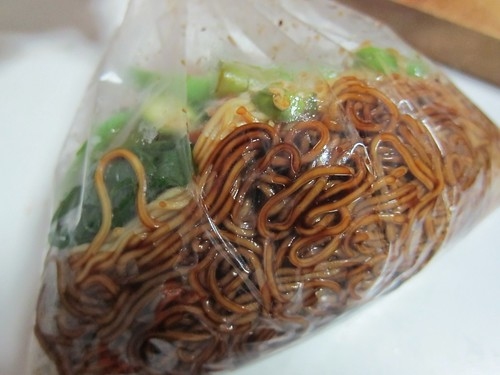 Wan Tan Mee ta pao in plastic bag
