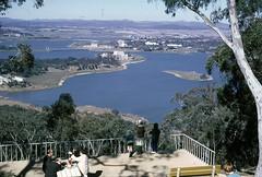 Canberra, 1967 (NettyA) Tags: lake 35mm australia slide lookout scanned 1967 canberra 1960s kodachrome griffin blackmountain act burley australiancapitalterritory voigtlandervitoii billtomsett