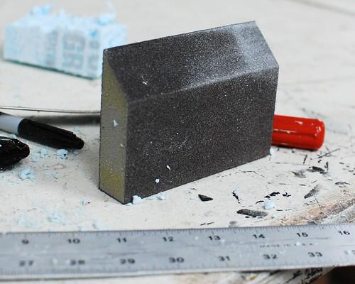 sandpaper-covered foam