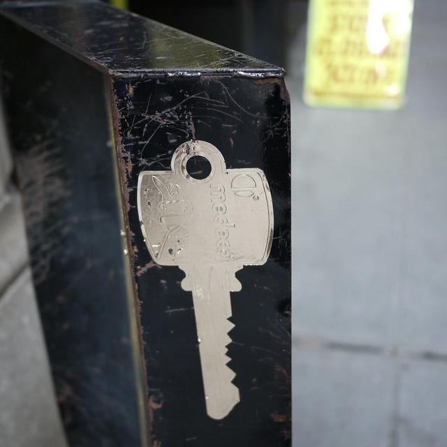 silver foil key to the city #walkingtoworktoday