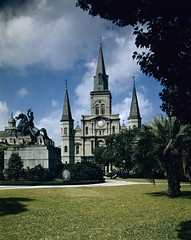 Jackson Square, New Orleans (SMU Central University Libraries) Tags: louisiana neworleans jacksonsquare kodachrome
