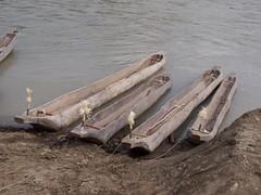 アイヌの丸木舟