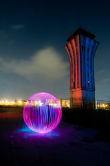 """""""Mueller Tower, Orb Sierra One Six Four Seven Requesting Clearance for Take-Off"""" (TxPilot) Tags: light lightpainting tower art austin painting photography airport nikon paint texas control lap lp mueller lightpaint d700 lightartphotography"""
