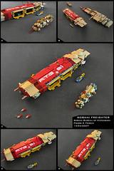 Sobani Freighter (Pierre E Fieschi) Tags: lego pierre space transport micro spaceship homeworld freighter microspace fieschi microscale microspacetopia