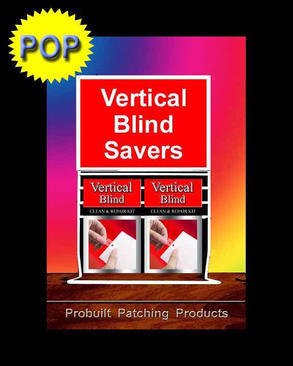 vertical blind repair tab pop