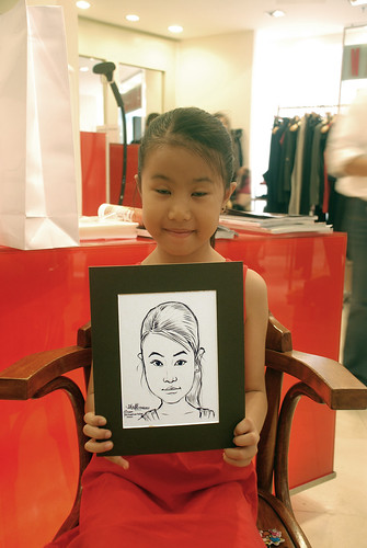 Portrait live sketching for Marella boutique - 15